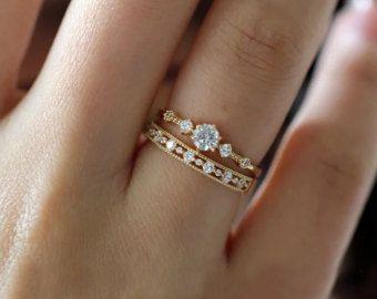 Fino anillo oro anillo de oro sencillo anillo oro anillo de