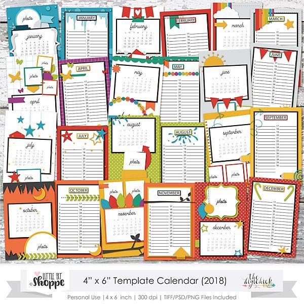 4x6 calendar template