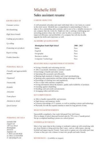 Great Student Cv Template No Experience Pictures student ...