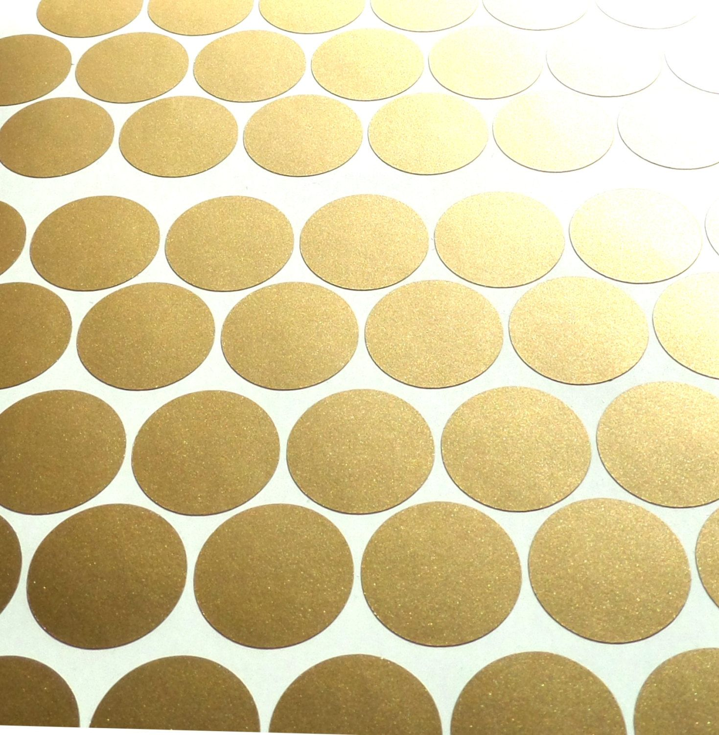 100 Matte Gold polka dots stickers, circle vinyl decals, removable ...