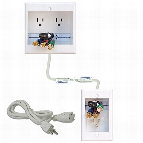 Amazon Com Powerbridge One Pro 6 Single Outlet Professional Grade Recessed In Wall Cable Managem Cable Management Wall Cable Management System Wall Mounted Tv