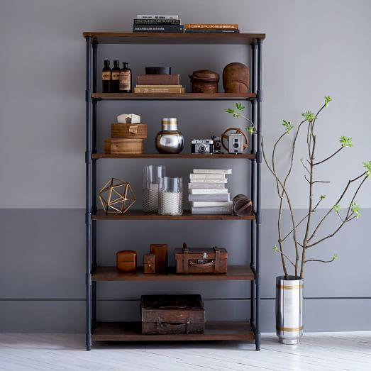 Pipe Bookcase Wide West Elm