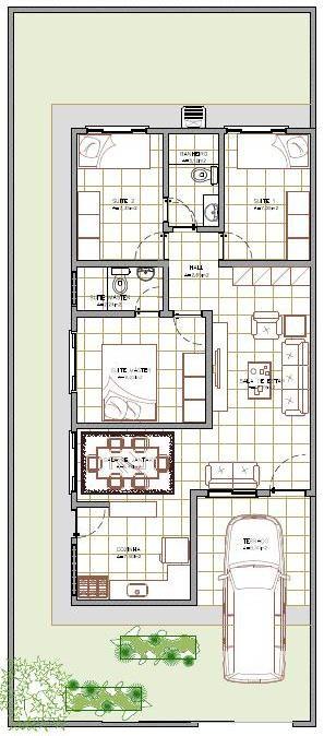 Planta De Casas 80m2 Com Garagem   Pesquisa Google