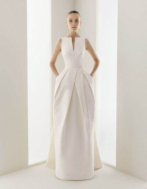 6a296aeacd 50 Simple Yet Chic Wedding Dresses For Modern Brides