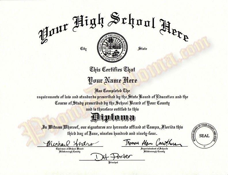 Fake High School Diploma Template 284800 For Free Printable High