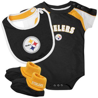 Pittsburgh Steelers Newborn 3-Piece Creeper f4e83da5b
