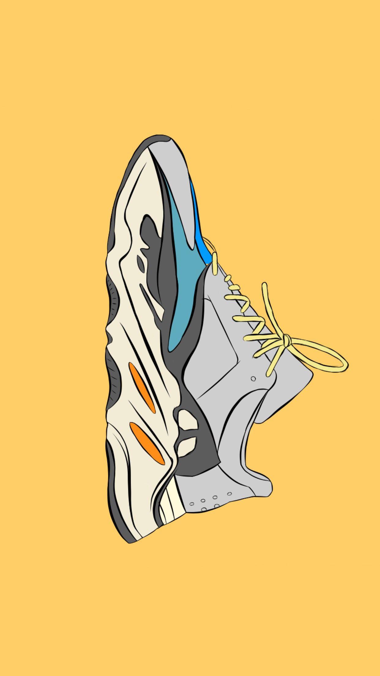 Yeezy 700 Sneakers Wallpaper Hypebeast Wallpaper Sneaker Art