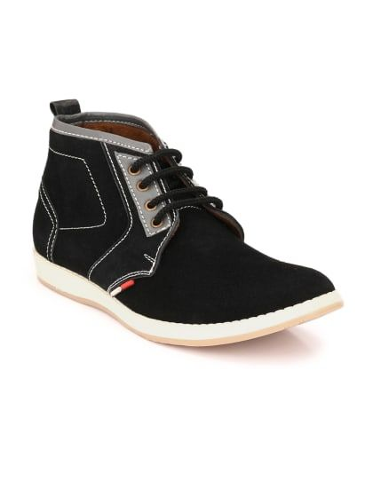 Black Leather Casual Boots   Only on saliyamohit.wooplr.com   Best Boots  Online