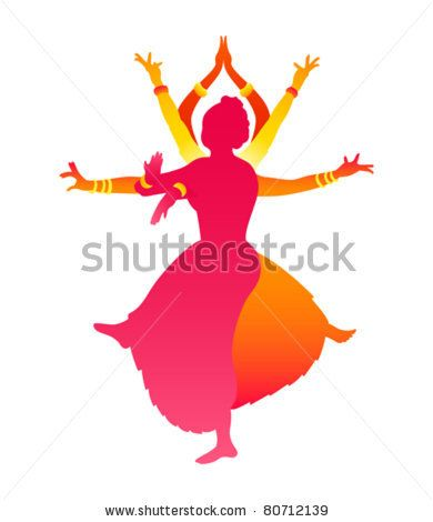 Stock Vector Colorful Classic Indian Female Dance Bharatanatyam Bharatanatyam Indian Dance Indian Classical Dance