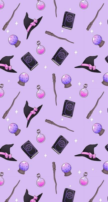 Background Book Of Shadows Broom Drawings Halloween Witch