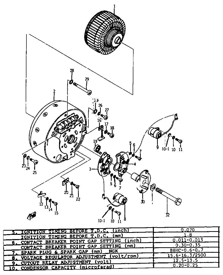 1968 Ycs1c Yamaha Motorcycle Generator Mitsubishi Diagram