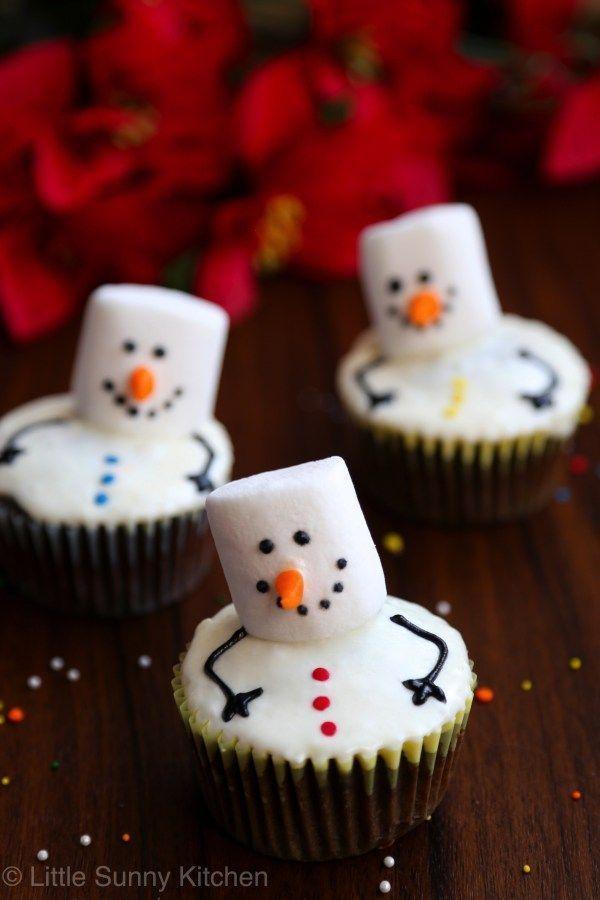 Marshmallow Schneemann Cupcakes … ,Marshmallow Schneemann Cupcakes