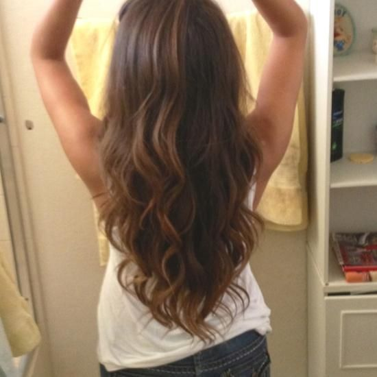 Brunette Sock Curls Hairstyles How To Long Hair Styles V Shaped Haircut Hair Styles