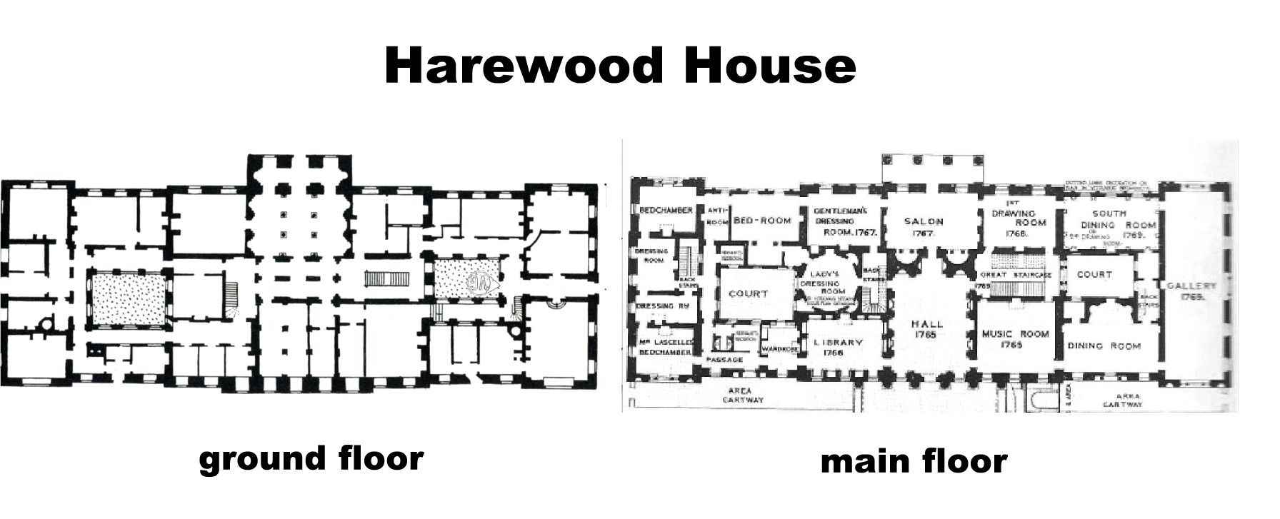 Harewood House ground 1st floor NOTE click on image for – Harewood House Floor Plan