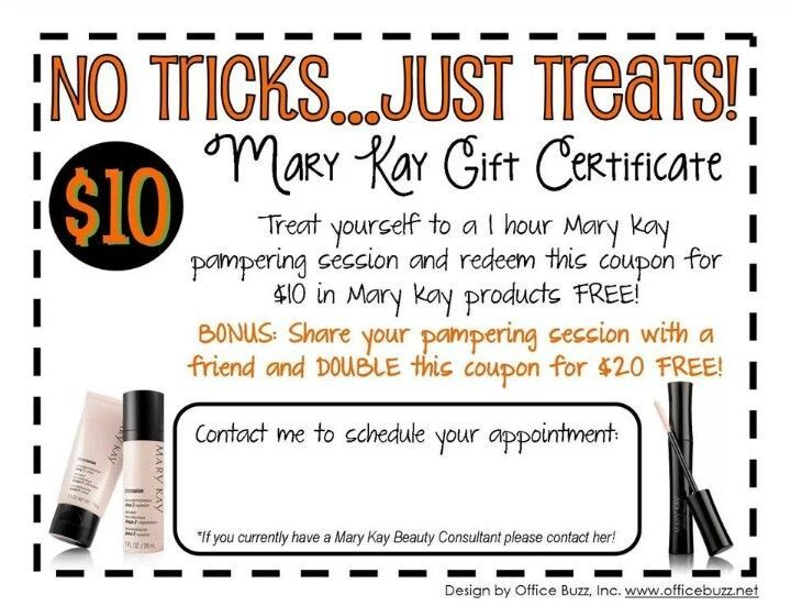 Mary Kay Free Facial Gift Certificate Google Search Beautiful
