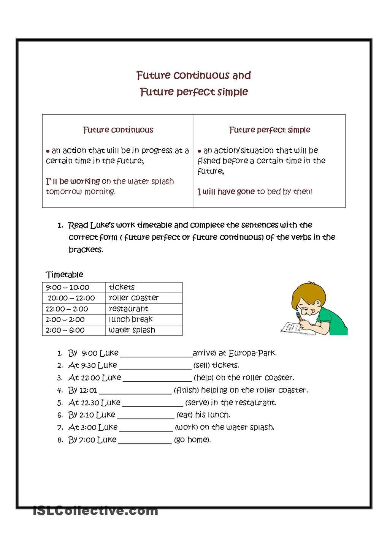 worksheet Perfect Verb Tense Worksheet future continuous and perfect verb tenses pinterest tensesprintable worksheetsteaching