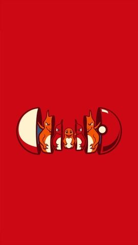 charmander evolution iphone hd wallpaper minimalismo