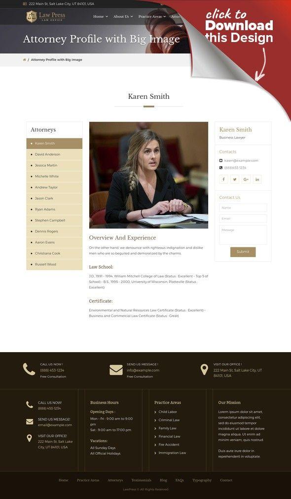 Tema de WordPress para Sitio de Abogados o licenciados | Pinterest ...