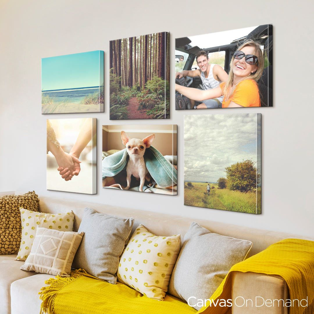 Create a travel photo gallery wall and turn your cell phone images into canvas art.  sc 1 st  Pinterest & Create a travel photo gallery wall and turn your cell phone images ...