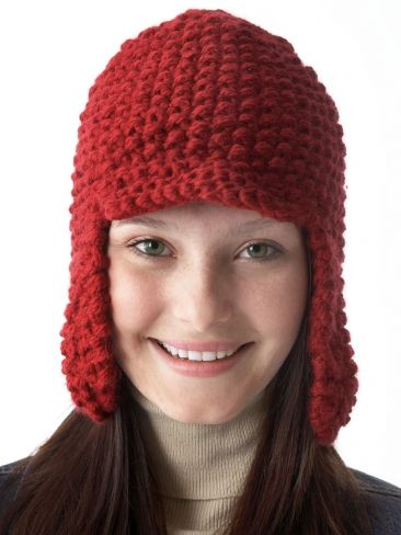 Earflap Hat With Peak Yarn Free Knitting Patterns Crochet
