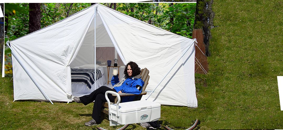 Large Canvas C&ing Tents : large pop up tent - memphite.com