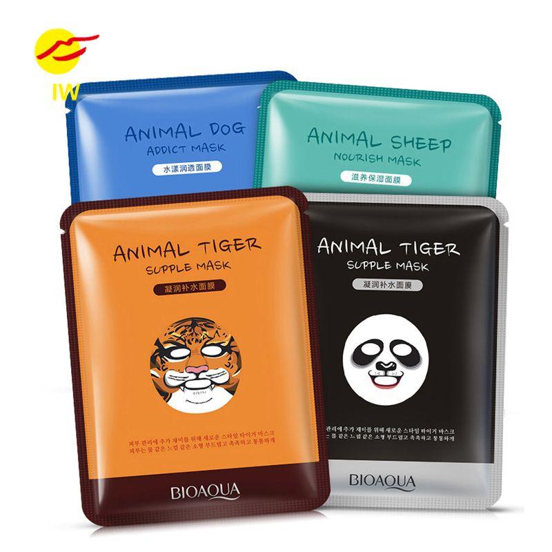 Bioaqua Tiger Panda Domba Anjing Bentuk Hewan Masker Wajah Kontrol