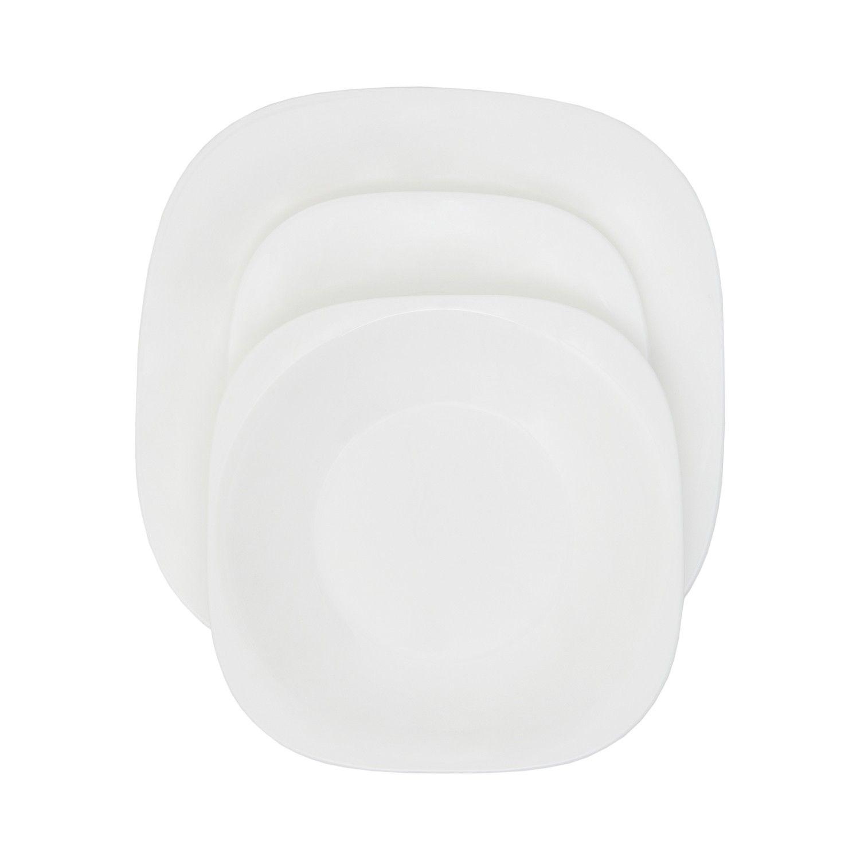 servizio piatti da 18 pezzi in arcopal estremamente resistente e facilmente lavabile