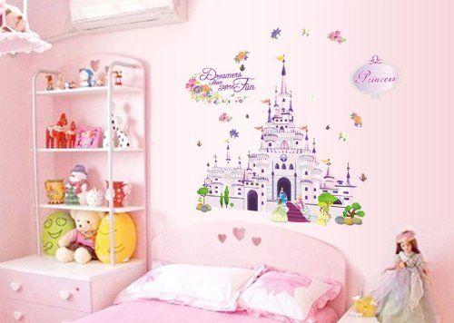 Ufengke Cartoon Princess Castle Wall Decals Children S Room Nursery Removable Stickers Murals