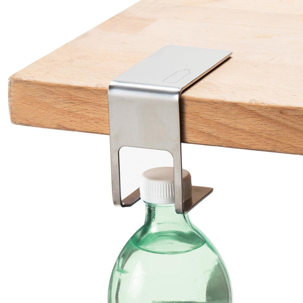 Discreet Bottle Hanger Design Metal Sheet - How To Remove Metal From Glass Table