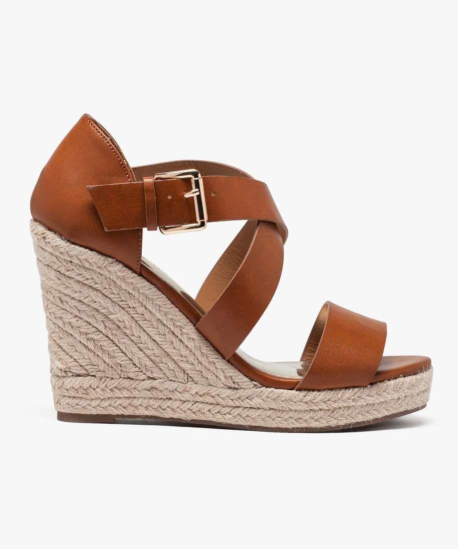 sandales compensées camel | chaussures | pinterest | sandales