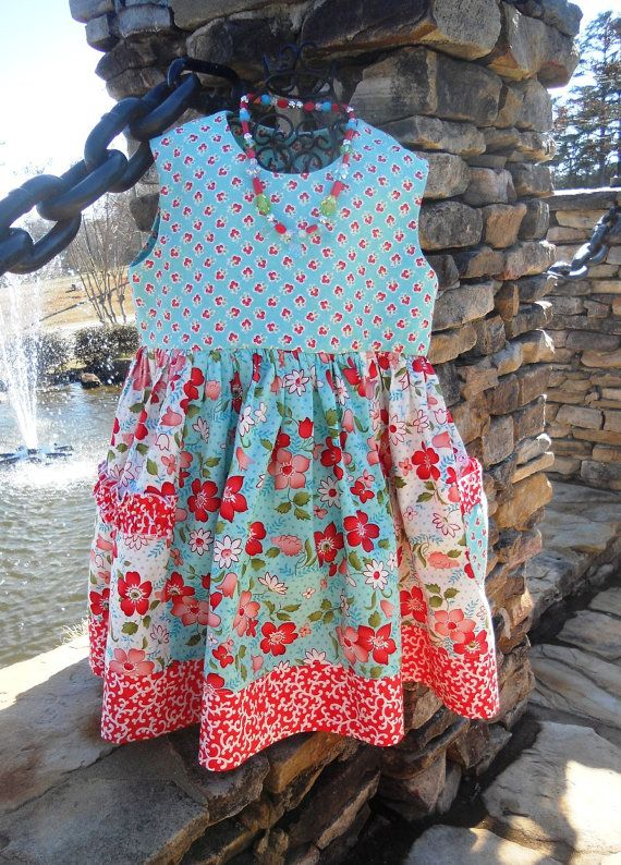 SEW HAPPY Dress Pattern - Colorful Stripwork with Ruffles and Pocket ...