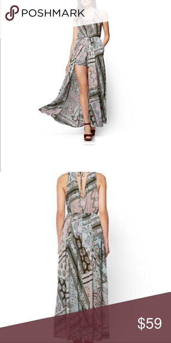 7cb088cd45b New York   Company Overlay Maxi Dress Size XS New York   Company Paisley  Overlay floral