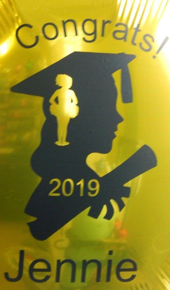 Graduation Balloon, Personalized Balloon, Custom Balloons,Graduation Party Decoration, Girls Graduat - -