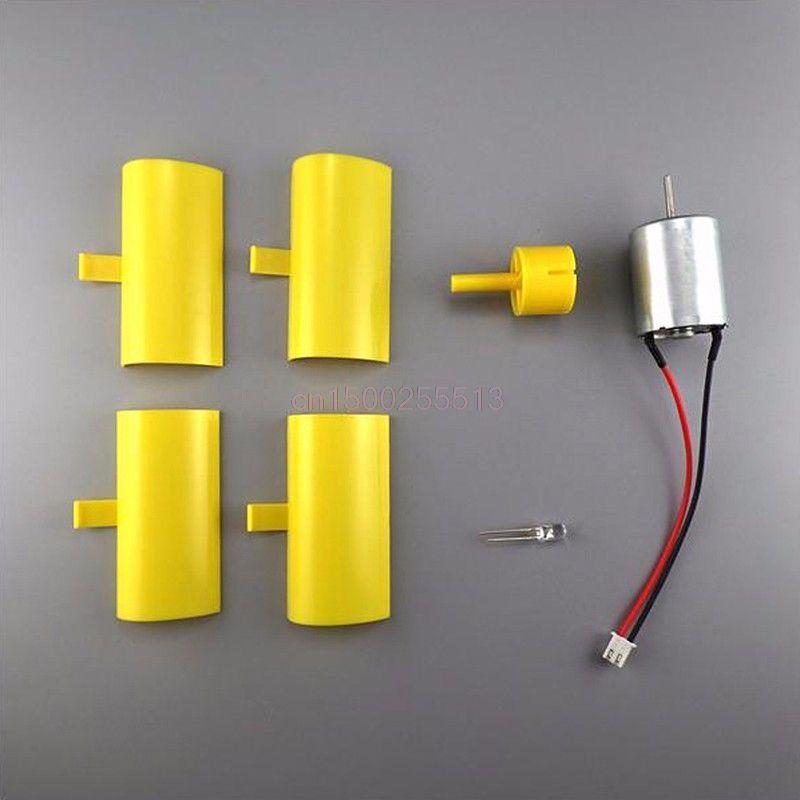 Vertical Micro Wind Turbines Generator Small DC Motor Blades DIY Kit