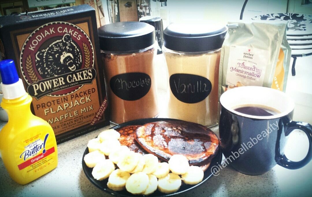 Chocolate Cinnamon Protein Pancakes!
