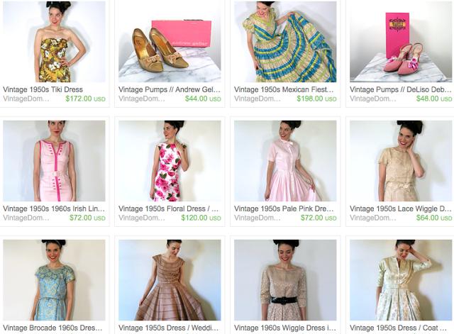 vintage dress shop on etsy