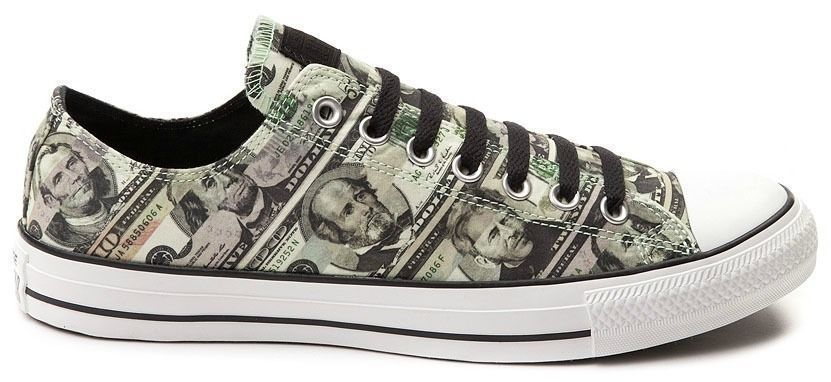 4cf9c1e43c04 Converse All Star Black And Green Money Print Unisex Sneakers Choose Size  New  Converse  Athletic