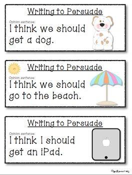 Persuasive Writing Prompts For Beginning Writers Persuasive