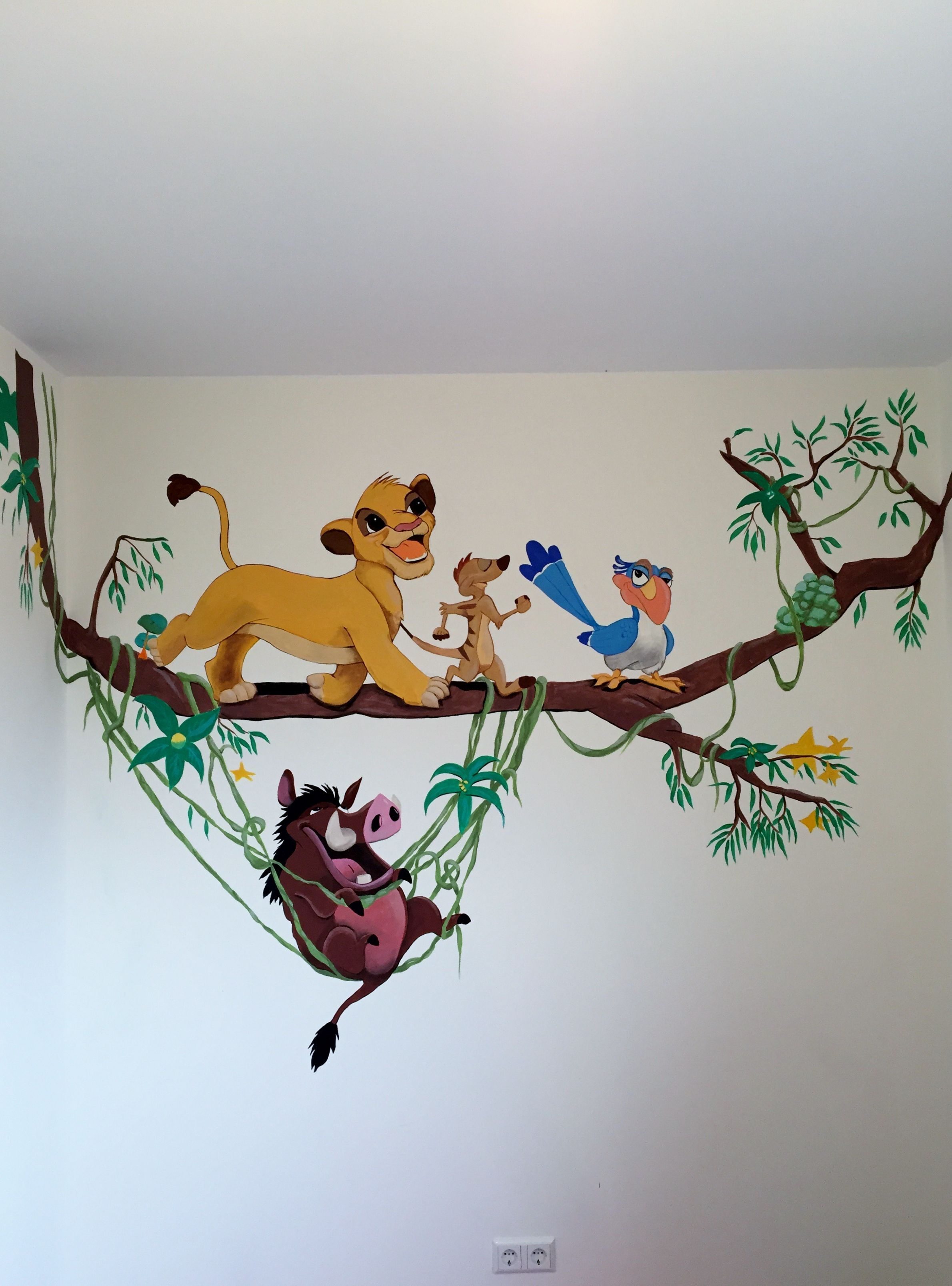 Muurschildering Voor Babykamer Disney Wall Paintings For