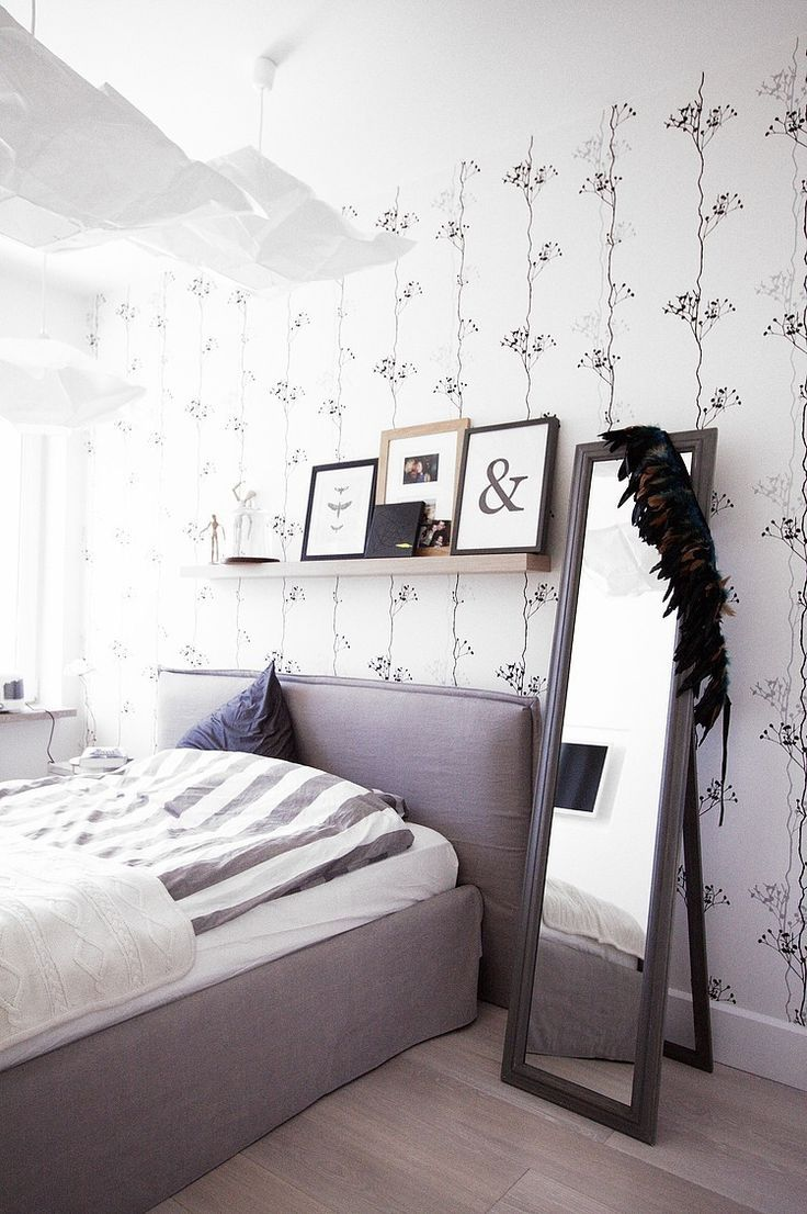 Pin by home furniture on bedroom in 2018 pinterest - Papier peint contemporain chambre ...