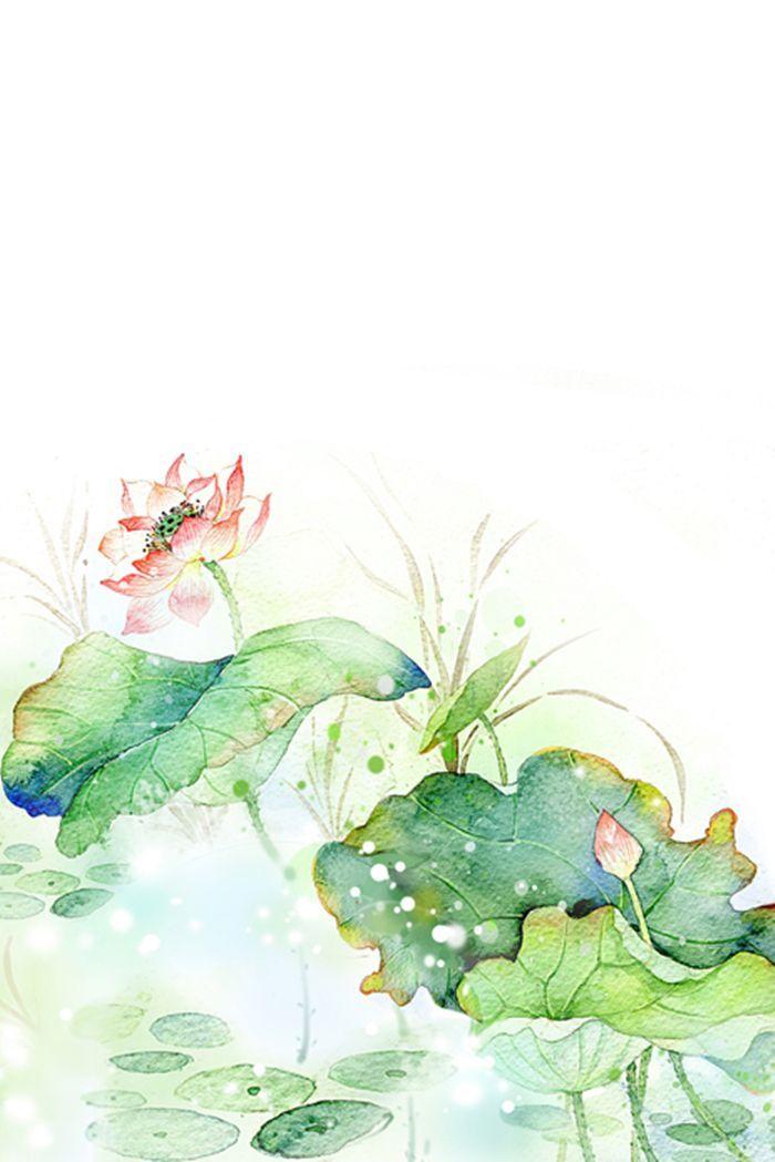 原创作品:水彩插画——荷花 | Mỹ thuật, Kỹ thuật màu nước, Màu nước