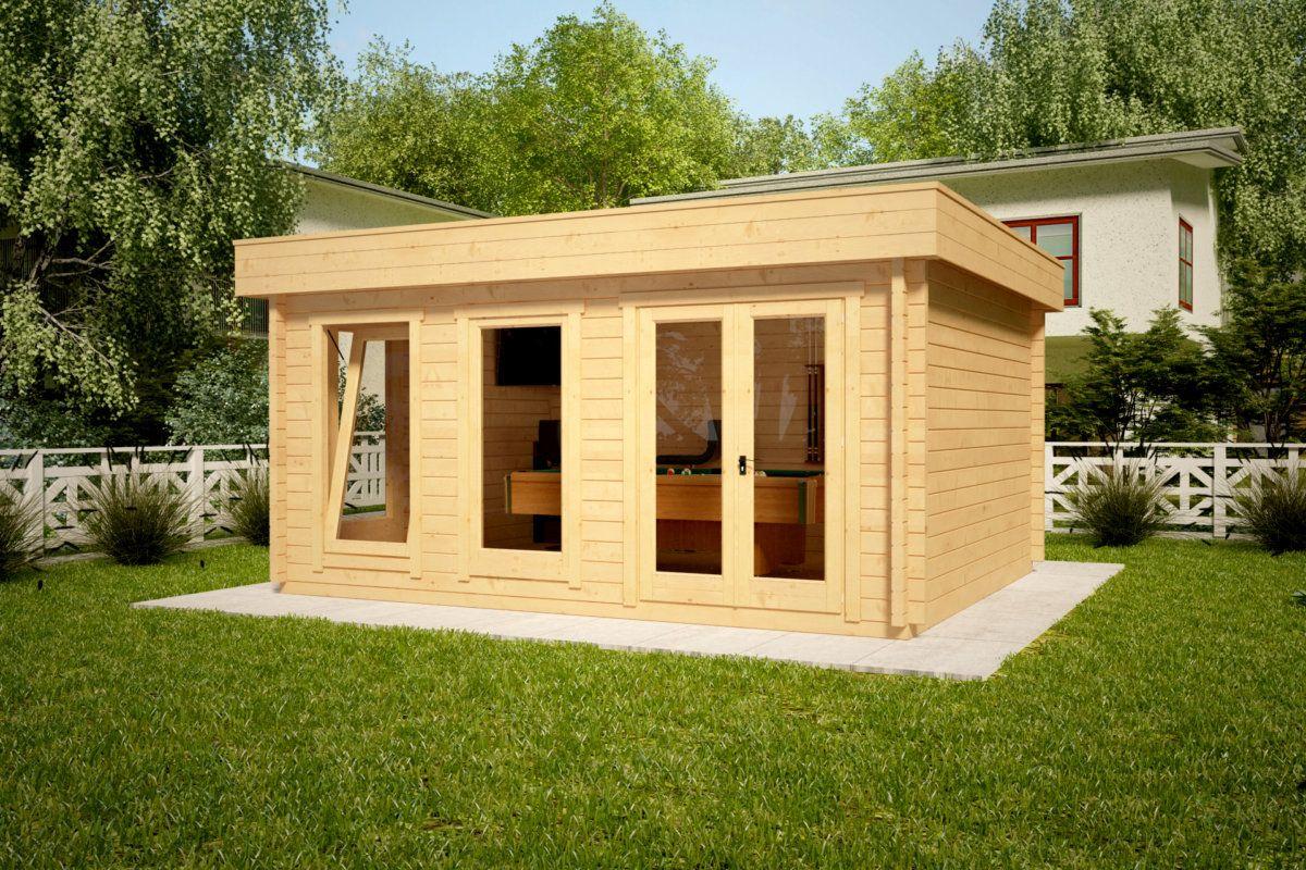 Modernes Holzhaus mit Flachdach Ian D 18m² / 58mm / 4x5m