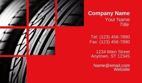 Tire business cards cars car industry business card templates tire business cards cars colourmoves