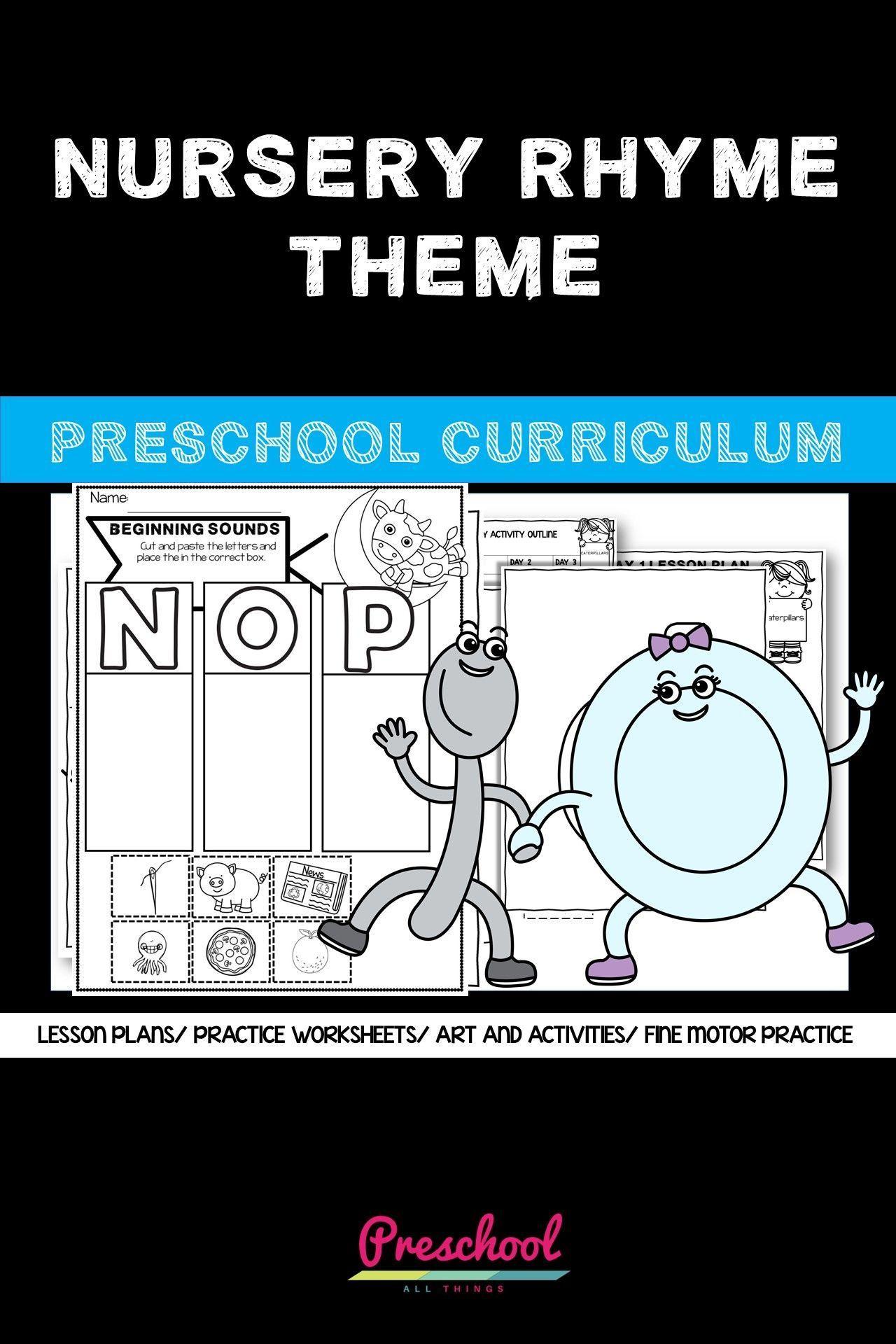Nursery Rhyme Theme Curriculum