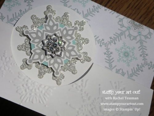 Stampin' Up!® Festive Flurry Circle Card Thinlits Die - Stamp Your Art Out! www.stampyourartout.com