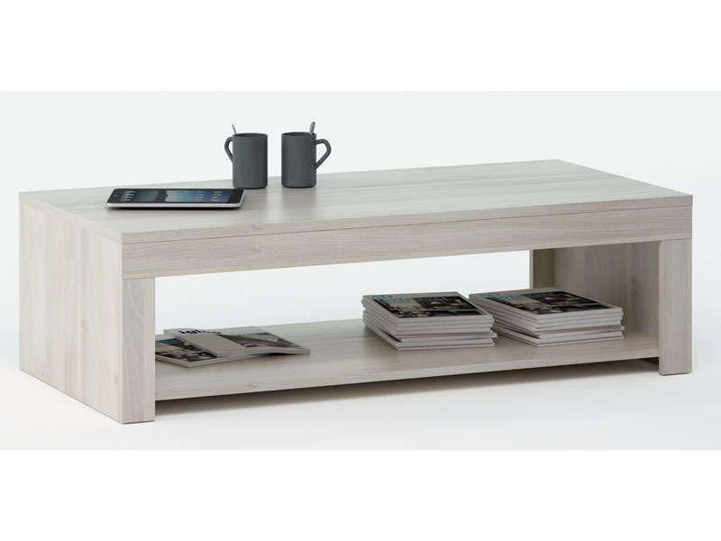 Table basse RUBIS coloris acacia - Vente de Table basse et bout de