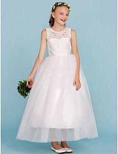 lace tulle junior bridesmaid dress
