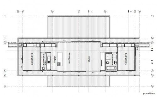 steel-framed house design inspiration: floating structure