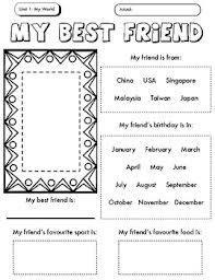 MY BEST FRIEND WORKSHEET FOR CHILDREN - Buscar con Google | salwa ...