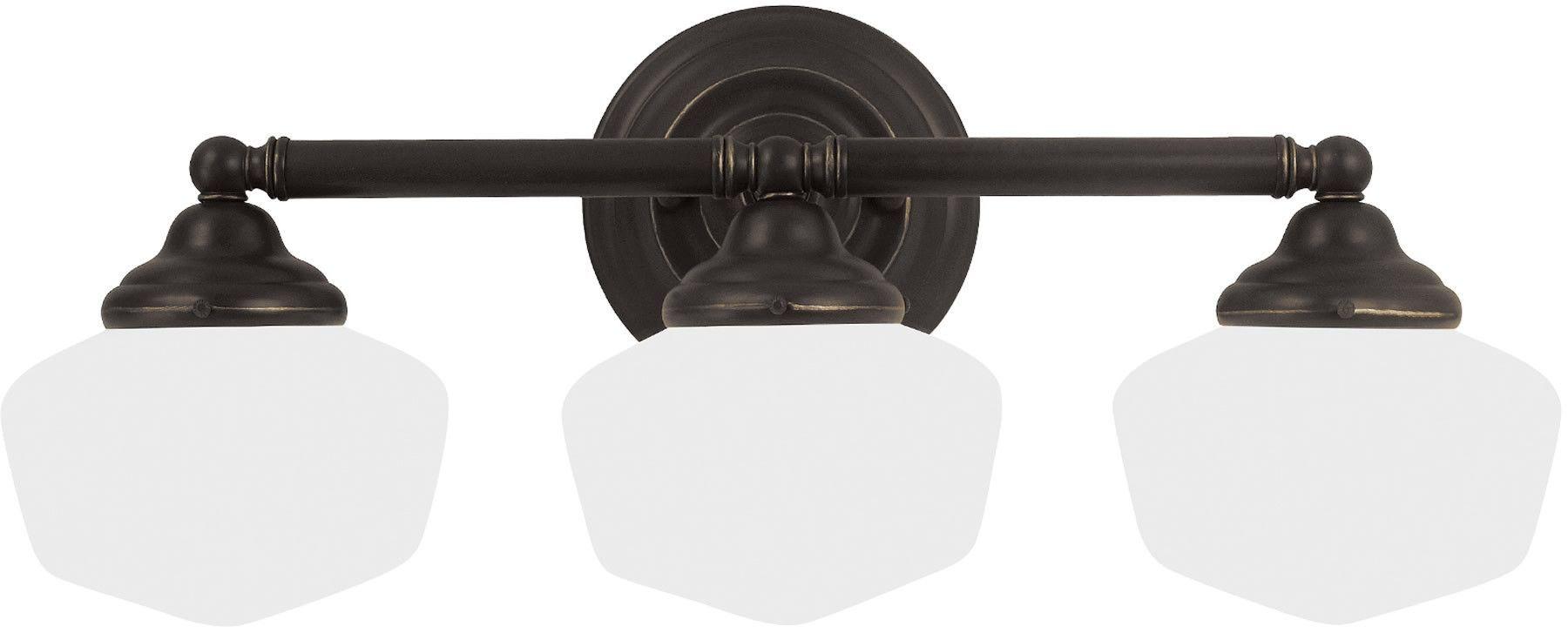 0-018547>Academy 3-Light Bath Vanity Heirloom Bronze
